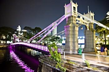 Pont sur Singapore River Singapour