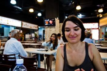 Repas food court Singapour