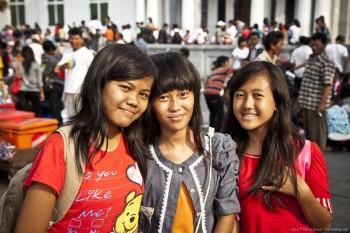 Jeunes filles Kota Jakarta Java Indonesie
