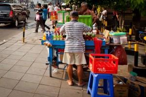 Stand de rue Indonésie