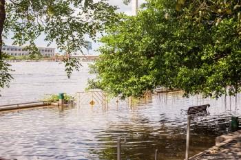 Chao Phraya innondations Bangkok Thailande