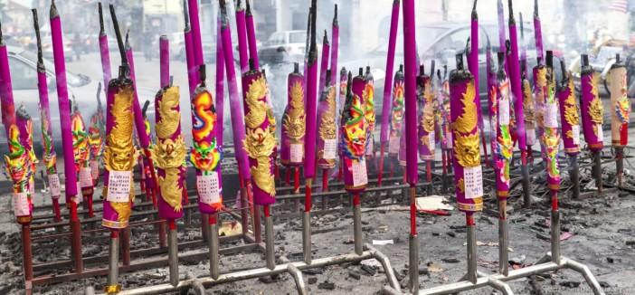 Panoramique bougies Georgetown Malaisie