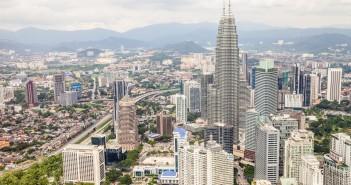Vue depuis KL Tower Kuala Lumpur Malaisie