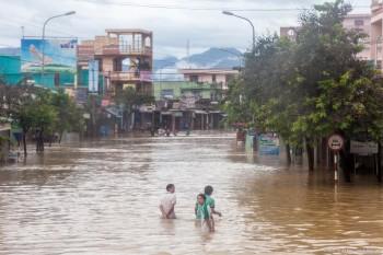 Inondations Hoi An Vietnam