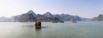 Panoramique sur la baie d'Halong, Vietnam