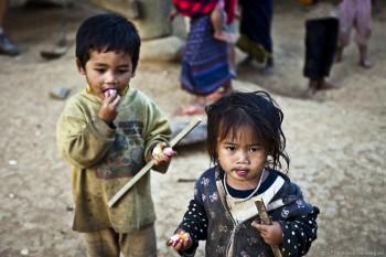 Enfants, Hoify, Laos
