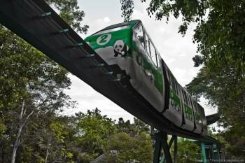 Monorail zoo Chiang Mai Thailande