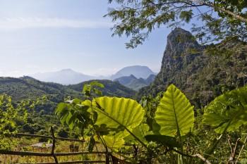 Montagnes autour de Luang Prabang, Laos