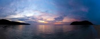 Panoramique coucher soleil Had Mae Had Beach Koh Ma Koh Phangan Thailande