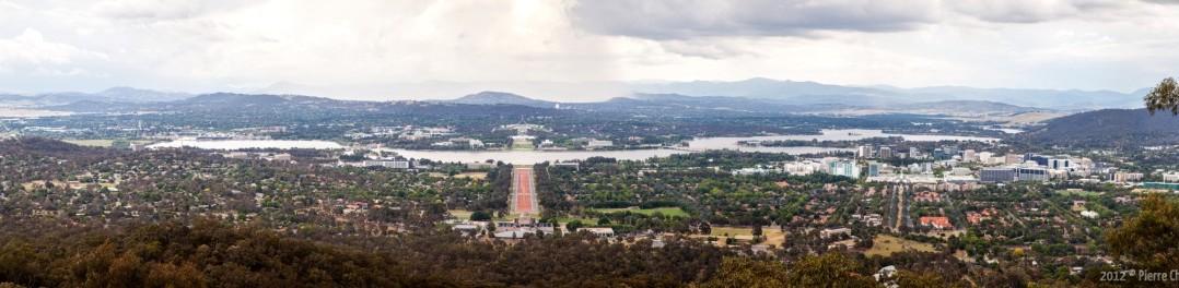 Canberra, vue du Mont Ainslie