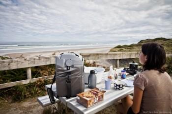 Petit-déjeuner face à la mer en Tasmanie