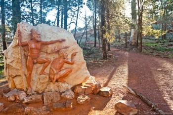 Gravure représentant deux Aborigènes à Flinders Ranges