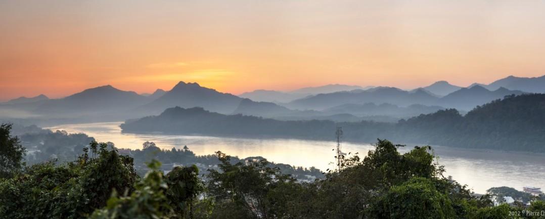 Panoramique du mont Phou Si Luang Prabang Laos