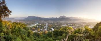 Panoramique mont Phou Si Luang Prabang Laos