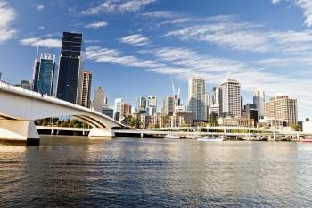 Brisbane depuis South Bank Queensland Australie