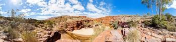Panoramique Trephina Gorge NT Australie