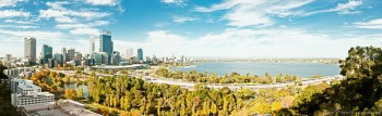 Panoramique Perth depuis Kings Park WA Australie