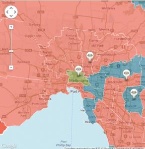 Résultats des élections 2013 à Melbourne
