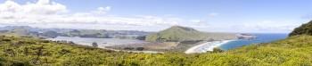 Panoramique Dunedin Otago Peninsula, Nouvelle Zélande
