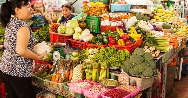 Marché vietnamien