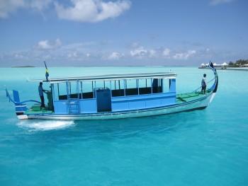 Dhoni, embarcation traditionnelle des Maldives