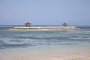 Abris sur ilot Sanur Bali Indonesie