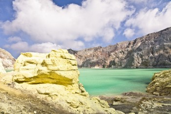Cratere Kawah Ijen Java Indonesie