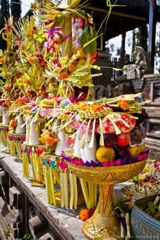 Offrandes temple Gunung Batur Bali Indonesie