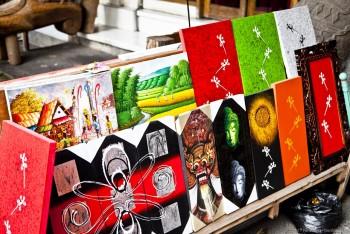 Peintures Ubud Bali Indonesie