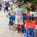 stand de rue Jakarta Indonesie
