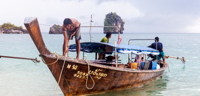 Bateau Railey Bay Thailande