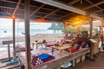 Restaurant plage Railey Bay est Thailande
