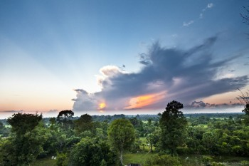 Coucher soleil Pre Rup Angkor Cambodge