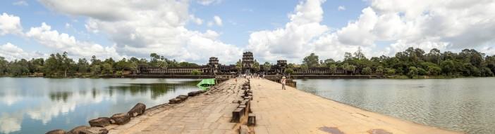 Panoramique extérieur d'Angkor Wat, Cambodge