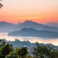 Coucher soleil Luang Prabang Mekong Laos