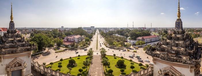 Panoramique Patuxai Vientiane Laos