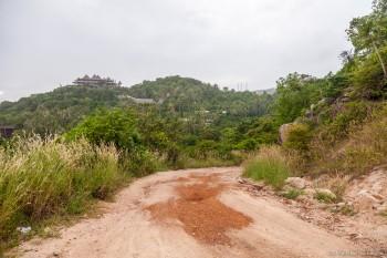 Route defoncée Koh Tao Thailande