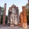 Temple Wat Sapan Hin, Sukhothai, Thailande