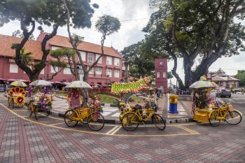 Tuk Tuk, Town Square, Melaka-Malaisie