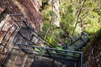 Escalier de Pigeon House Mountain, Australie