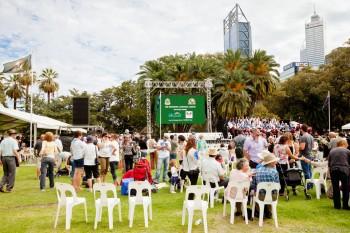 Rassemblement pour Anzac Day à Perth
