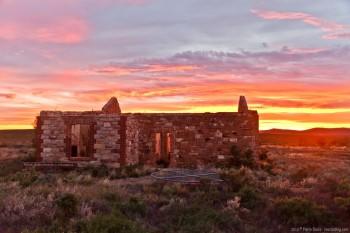 Ruines au coucher du soleil, Flinders Ranges National Park