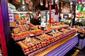 Saucissons, marché d'Adélaïde