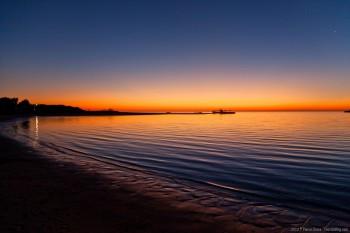 Coucher de soleil sur Coral Bay