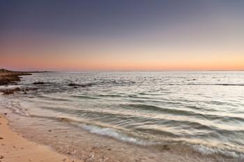 Coucher de soleil sur Trella Beach