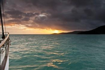 Coucher de soleil dans les Whitsunday Islands