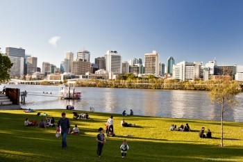 Le CBD de Brisbane depuis South Bank