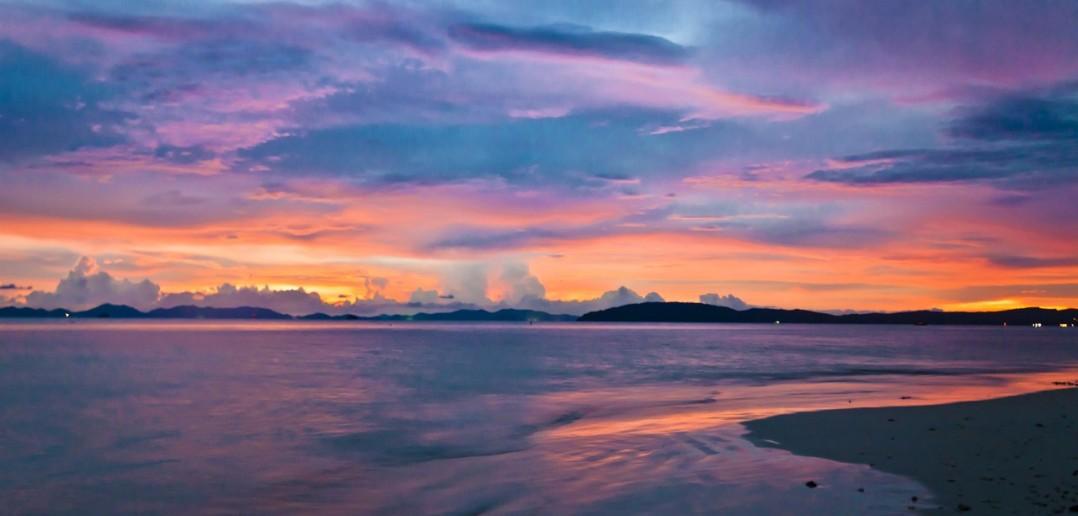 Railay Bay coucher soleil Thailande