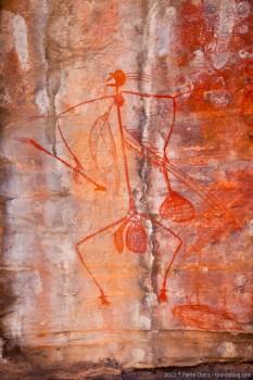 Peinture rupestre dans le parc national de Kakadu