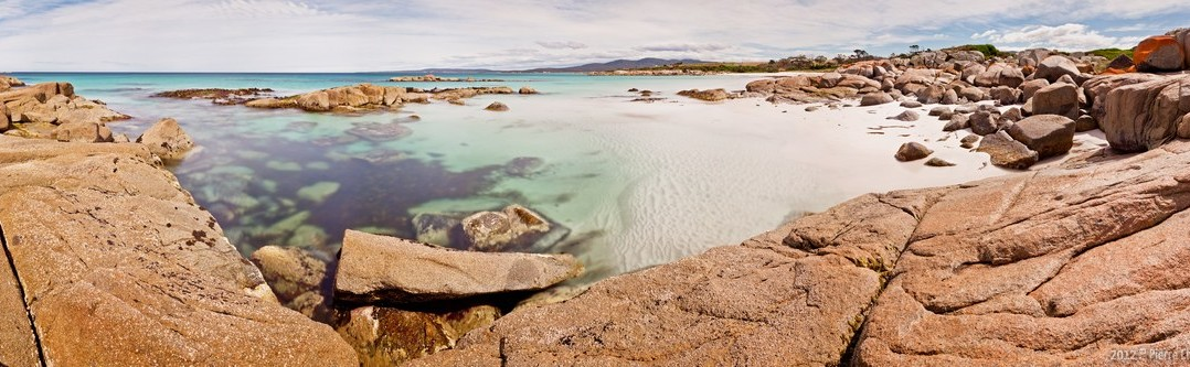 Panoramique Bay of Fires Tasmanie Australie